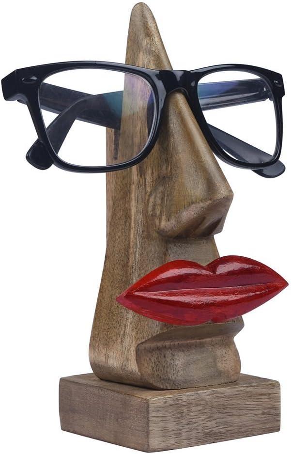 Fablcrew Support Lunettes en Forme de Nez en Bois Sculpt/é,Repose Lunette en Bois avec Moustache pour Maison Bureau D/écoratif Utilit/é Cadeau Accessoires de No/ël Thanksgiving Cadeau