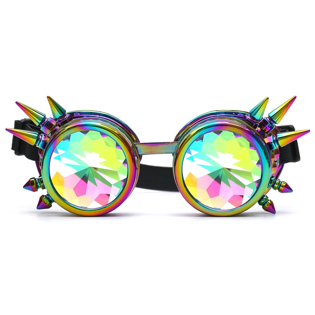 Careonline Vintage STEAMPUNK GOGGLES&Glasses Bling Lens Rustic Goth COSPLAY PARTY Rivets