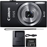 Canon IXUS 185 / ELPH 180 20.0MP 8X Optical Zoom Point and Shoot Digital Camera Black