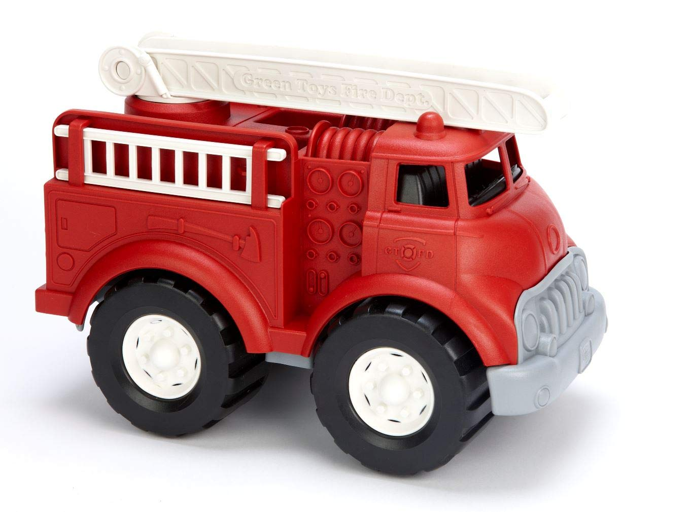 Green Toys Fire Truck - Frustration Free Packaging, Red by Green Toys