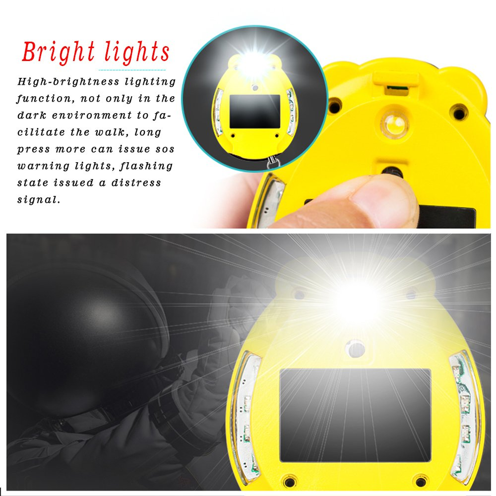 Kyson Personal Alarm Keychain130dB Self Defense SOS Emergency Human Voice Safety Sirens for Women/Elderly /Kids/Adventurer/Night Workers/Explorer with Flashlight Speaker Function by Kyson (Image #4)