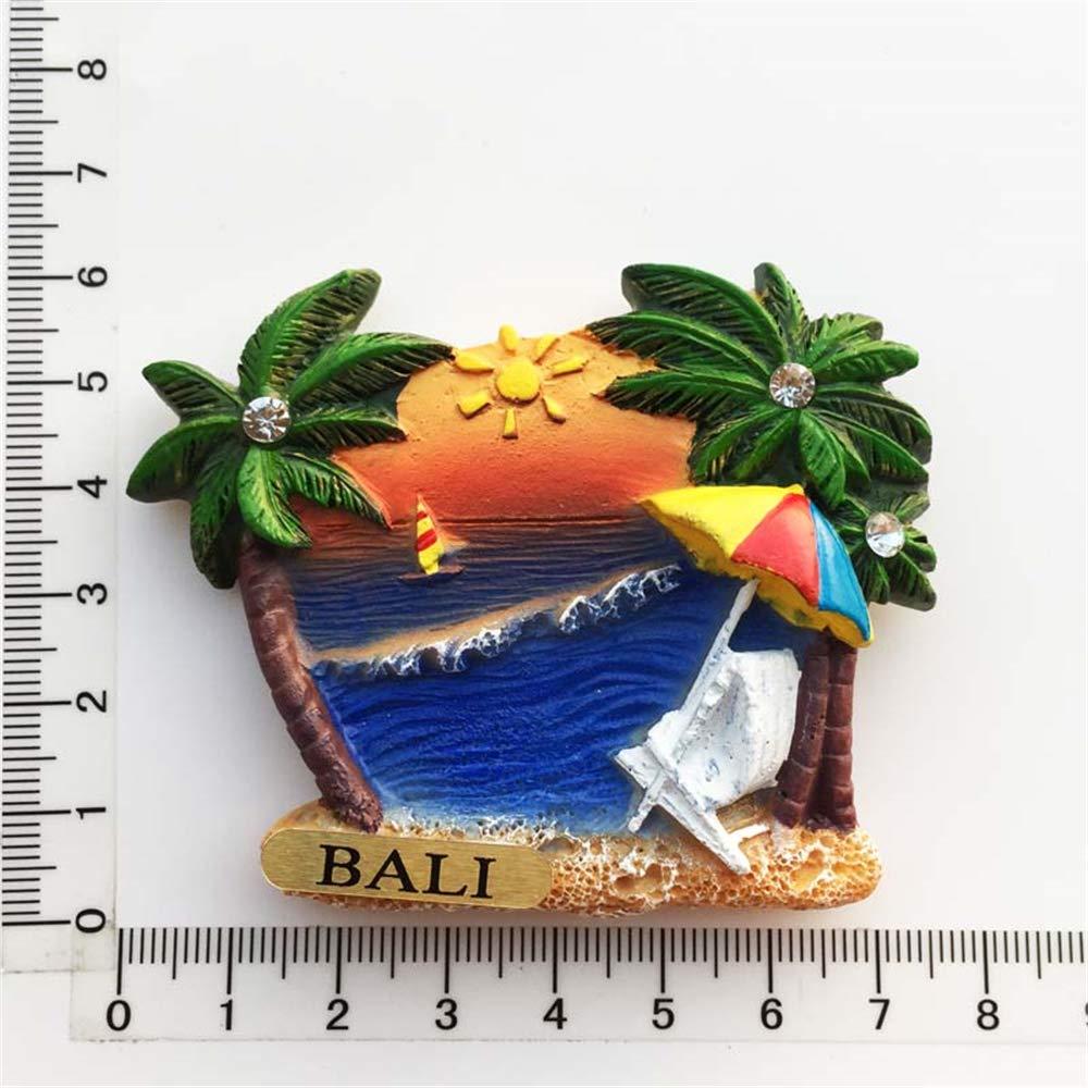 Decorazione per la casa e la Cucina Collezione Regalo Souvenir da Viaggio MUYU Magnet Calamita da Frigorifero 3D con Isola di Bali Indonesia