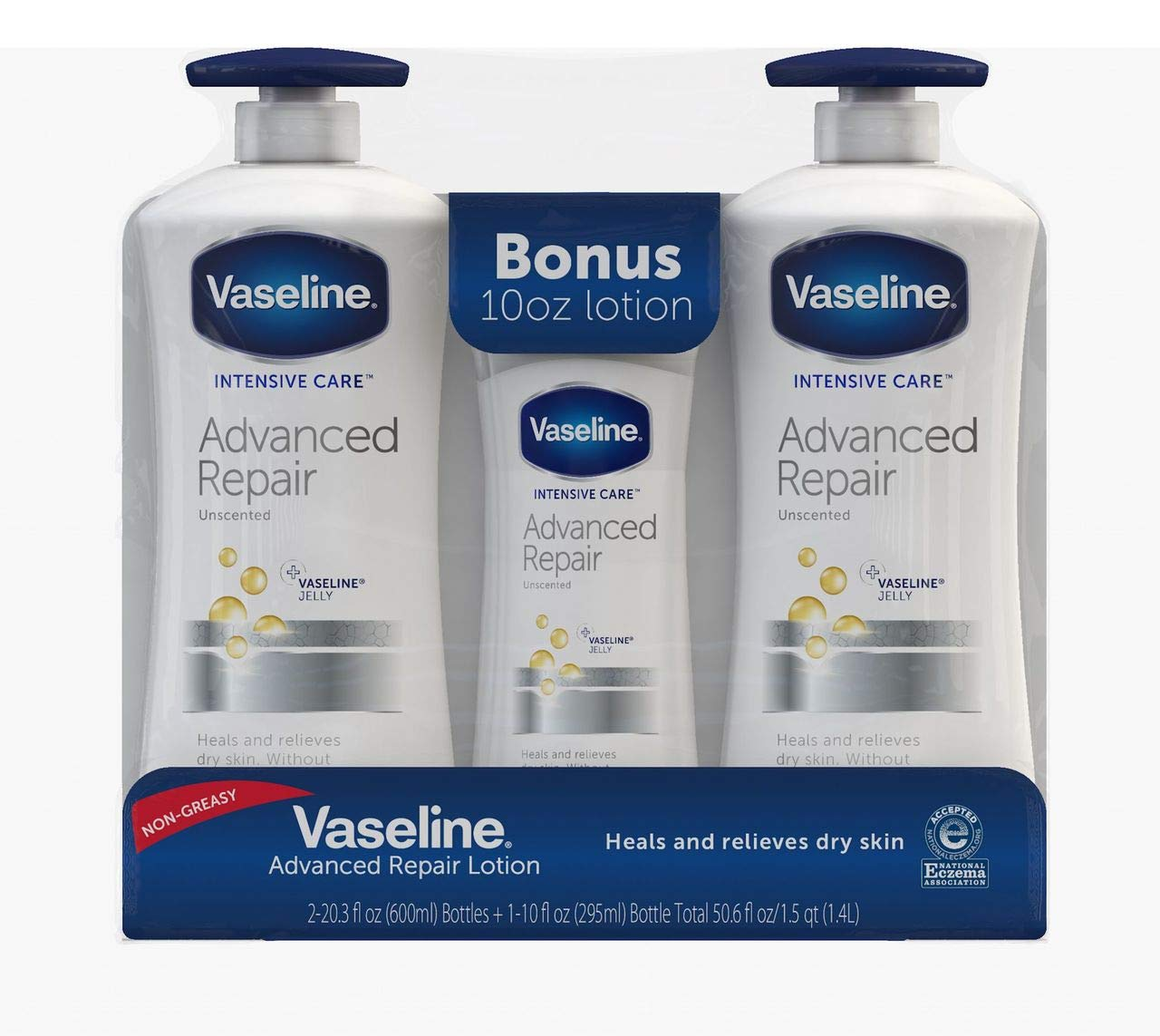 Product of Vaseline Intensive Care Advanced Repair Lightly Scented Lotion, 2 pk.