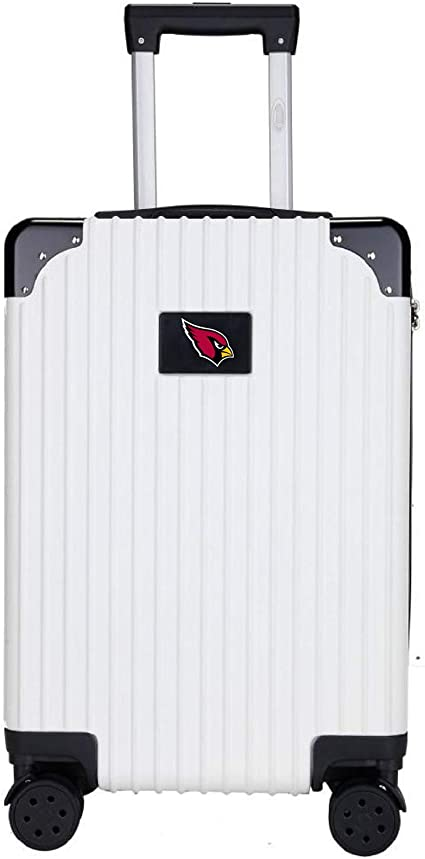 Denco NFL Oakland Raiders Round-Tripper Two-Tone Hardcase Luggage Spinner
