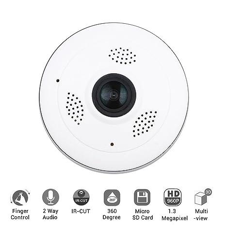 IP Camera Wireless Aitemay Fisheye Surveillance Cameras 360 Degree  Panoramic Home Monitor with 1080P HD 2 4Ghz IR Night Motion Detection Smart  Phone