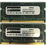 4GB (2 X 2GB) DDR2 PC2-5300 667MHz CL5 200PIN SO DIMM MEMORY RAM with Dataram