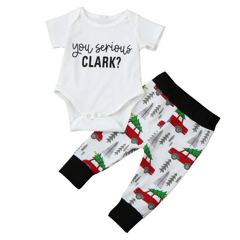 Yalasga Family Christmas Pajama Set for Adult Kids Baby-Long Sleeve T Shirt Tops Pants