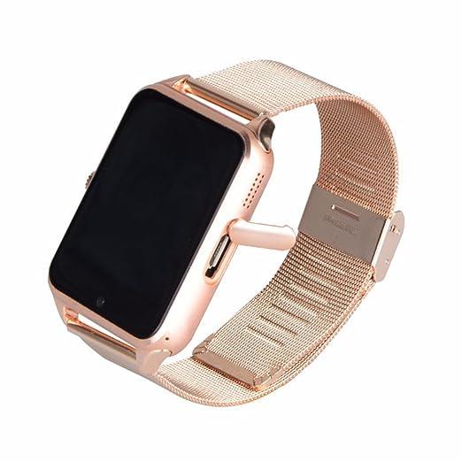 Shine-Tale Bluetooth Smart Watch Teléfono Z60 Smartwatch Acero inoxidable para Android Teléfono intedor: Amazon.es: Electrónica