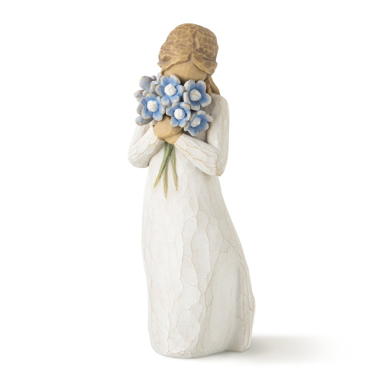 Willow Tree hand-painted sculpted figure, Forget-me-not