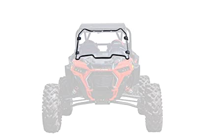 SuperATV Heavy Duty Clear Scratch Resistant Full Windshield for Polaris RZR XP Turbo S/XP