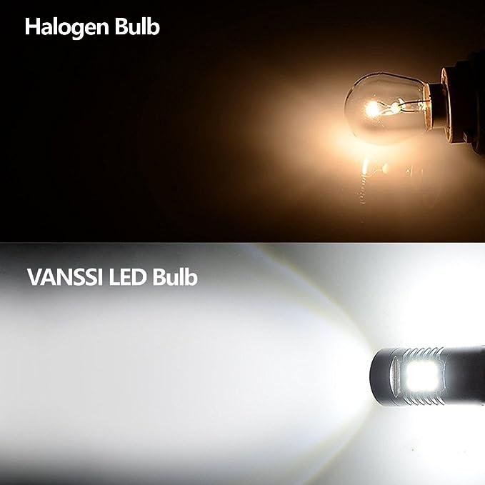 Super brillante blanco P21W 1156 7506 BA15S Alto rendimiento 21-SMD bombillas LED para el coche de copia de seguridad inversa DRL freno paro bombillas ...
