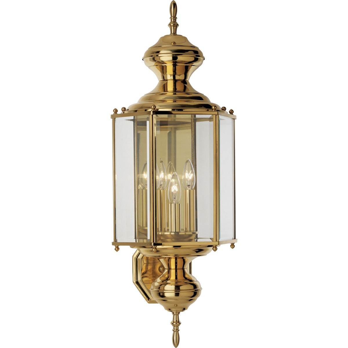 Progress lighting p5730 10 hexagonal wall lantern with clear progress lighting p5730 10 hexagonal wall lantern with clear beveled glass and brassguard finish polished brass wall porch lights amazon arubaitofo Choice Image