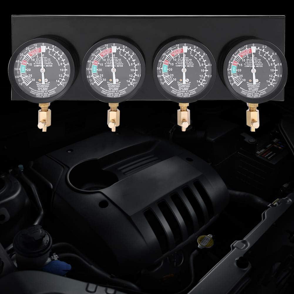 Estink Universal Gauge Carburetor 4Pcs Motorcycle Fuel Vacuum Carburetor Carb Synchronizer Tool Balancer Gauge Kit