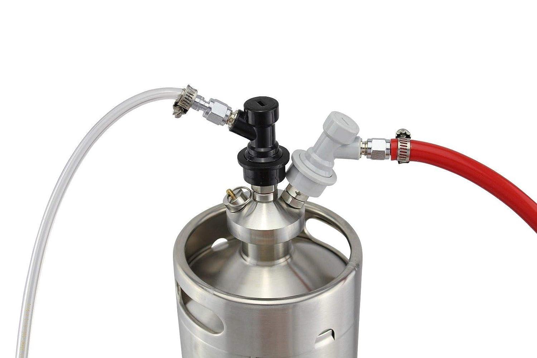 Flüssigkeit Ball Lock Bier Fass trennt für Cornelius Corny Home Brew Neu Gas
