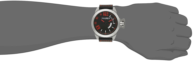 Haurex Italy Men s 6A509URN Storm Analog Display Quartz Black Watch