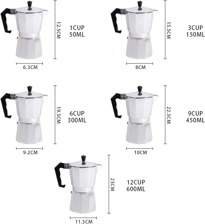 1//3//6//9//12 Cup Aluminum Italian Espresso Coffee Stovetop Maker Pot Percolator
