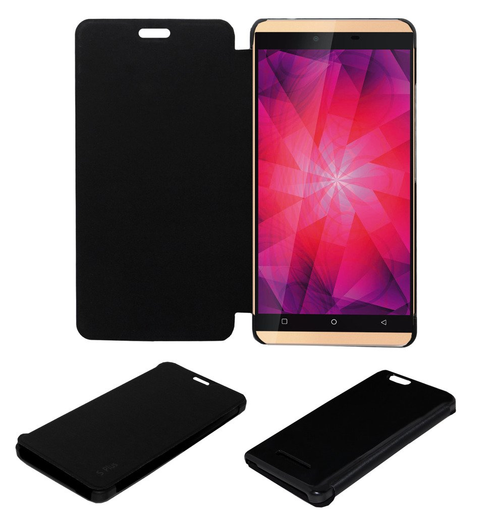 huge selection of 59c94 6dffb Acm Flip Case for Gionee Elife S Plus Mobile Front & Back Flap Folio Cover  Black