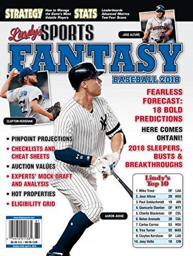 LINDY'S 2018 MLB FANTASY BASEBALL