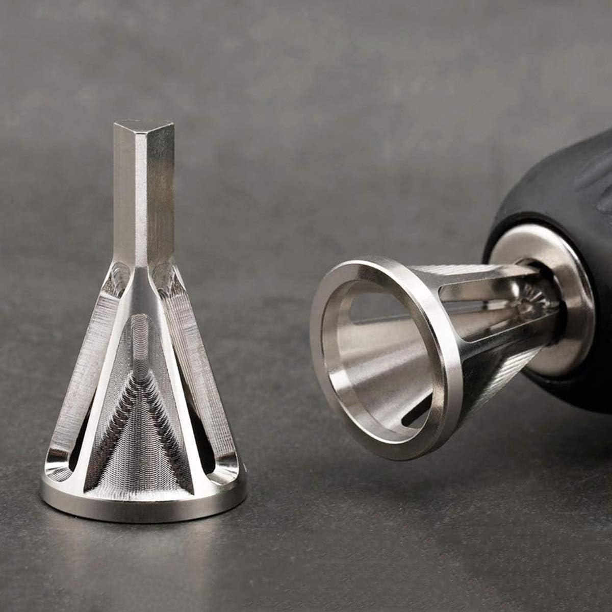 HaiQianXin Entgraten von externem Fasenwerkzeug Edelstahl Entfernen Sie Gratwerkzeuge f/ür Bohrer mit hoher Qualit/ät