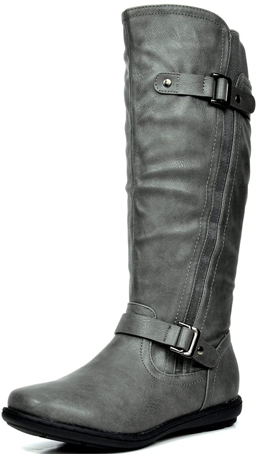 1435db65827 DREAM PAIRS Women s Faux Fur-Lined Knee High Winter Winter Winter Boots ( Wide- ...