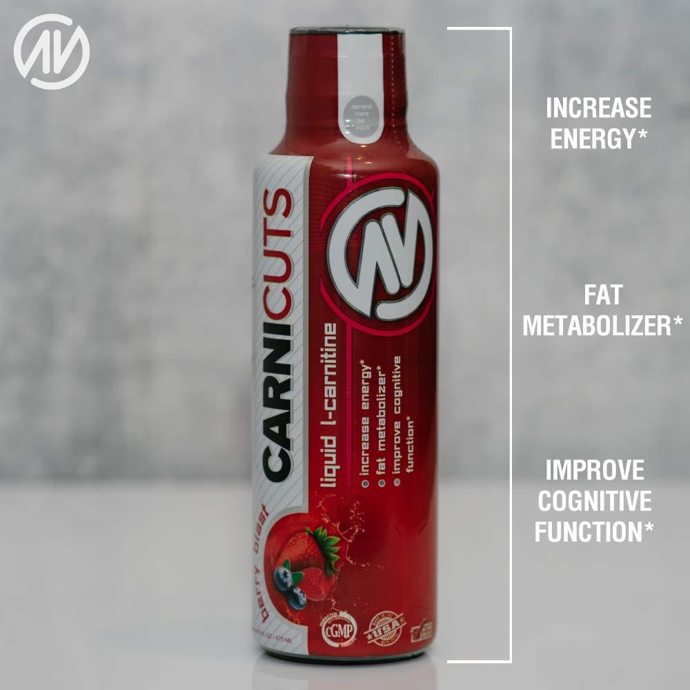 Carnicuts L-Carnitine Liquid Supplement by NutraOne – Fat Burner, Stimulant Free Metabolic Enhancer (Berry Blast - 32 Servings)