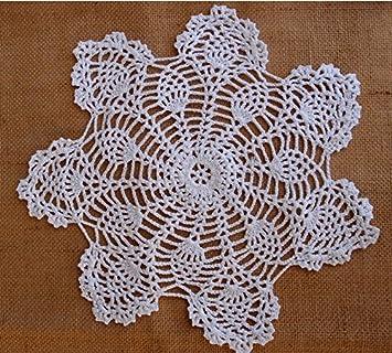 Aqua Crochet Cotton Round Doily 40cm