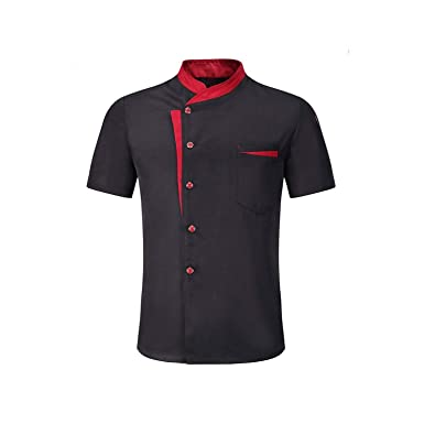 Amazon.com: Unisex Restaurante Cocina Chef Uniforme Camisa ...