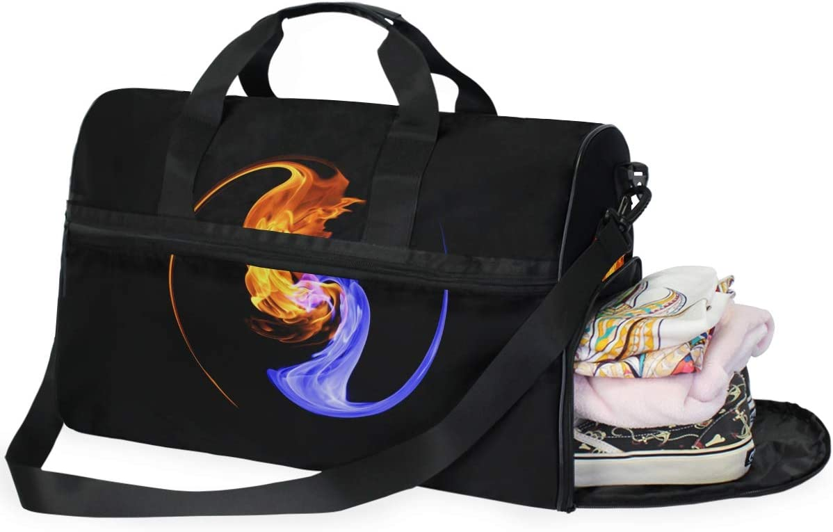AHOMY Yinyang Sports Gym Bag with Shoes Compartment Travel Duffel Bag