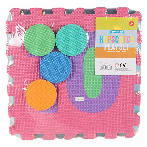 The Home Fusion Company Large Outdoor Garden Hopscotch Play Set Mats Pad Foam Mat Children Numbers -