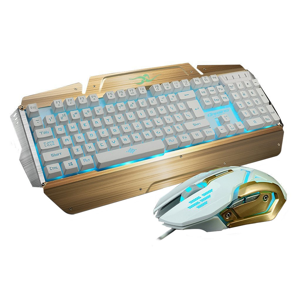 Amazon.com: LED Gaming Keyboards and Mouse Combo, BlueFinger 3 Color ...