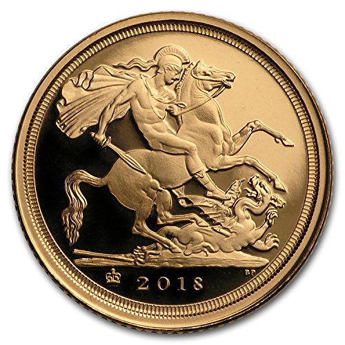 2018 UK Great Britain Gold Quarter Sovereign Proof (w/Box & COA) Gold Brilliant Uncirculated