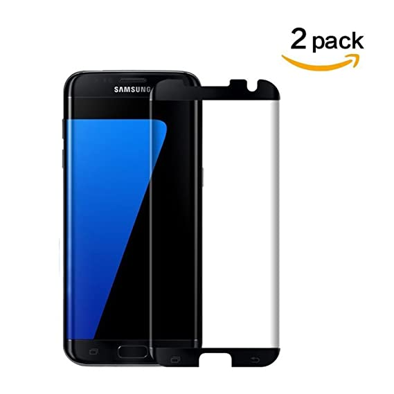 9609bca2c1d Galaxy S7 Edge Screen Protector,Galaxy S7 Edge Tempered Glass, [2PACK]  DeFitch