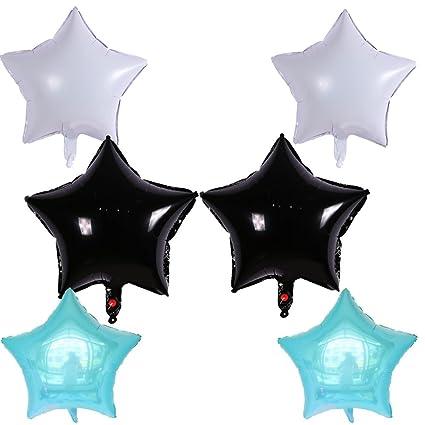 Kit 6 X Balones globos inflables estrella 45 x 45 cm Party ...