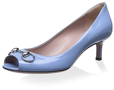 1df46f08d874b Gucci Women's Open Toe Pump, Light Blue, 36 M EU/6 M US: Buy Online ...