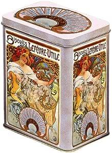 FRANCIA VINTAGE CAJA DECORATIVA METAL 12x8x15cm PUB GALLETAS LU 1897: Amazon.es: Hogar