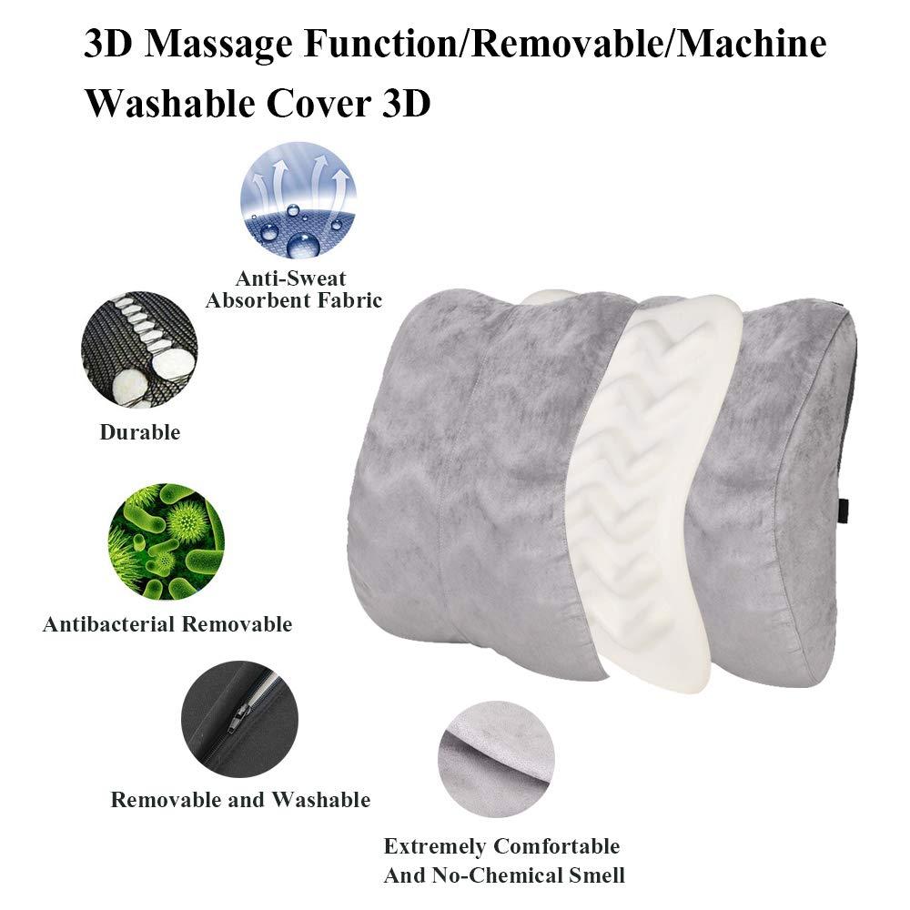 Amazon.com: Almohada de apoyo lumbar de espuma viscoelástica ...