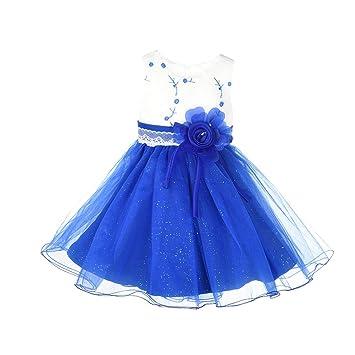 Luerme Mädchen Kleid Blumen Bogen Bling Prinzessin Geburtstags ...