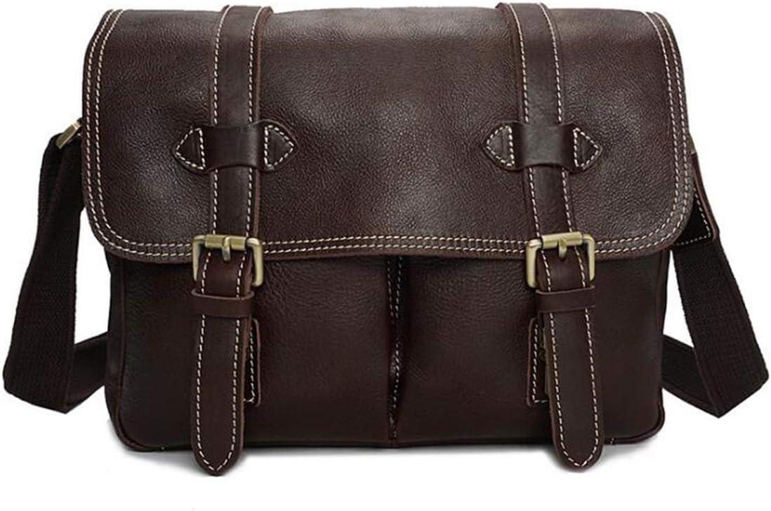 DFCDNA Vintage Leather Leather Camera Bag Shoulder Messenger Bag for Digital SLR Camera Color : Brown