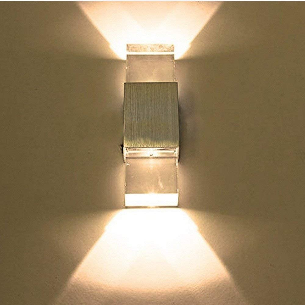 ROHSCE LED Wall Light,Aluminum Alloy Wall Lamp for Decoration,Apply to The Interior of The Hall Or Aisle Or The Wall of The Room,Crystal Rectangle