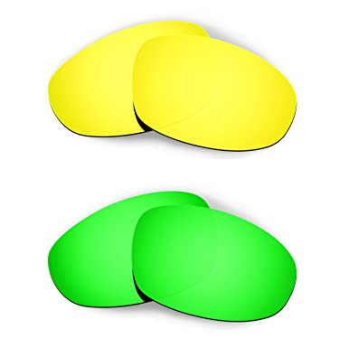 HKUCO Red/Emerald Green/Transition/Photochromic Polarized Replacement Lenses For Oakley Juliet Sunglasses Gm7BXKv8Gd