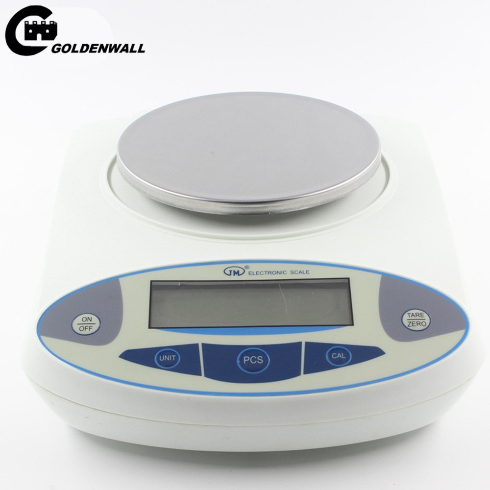 CGOLDENWALL High Precision Analytical Electronic Balance, Analytical Laboratory Jewelry ScalesPrecision Gold ScalesClark Scales Kitchen Precision Weighing Electronic Scales 0.1g (3000g, 0.1g) by CGOLDENWALL