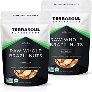 Terrasoul Superfoods Organic Brazil Nuts, 2 Lbs (2 Pack) - Raw | Unsalted | Rich in Selenium