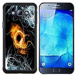 EJOOY---Cubierta de la caja de protección para la piel dura ** Samsung Galaxy A8 A8000 ** --Resumen Anillo