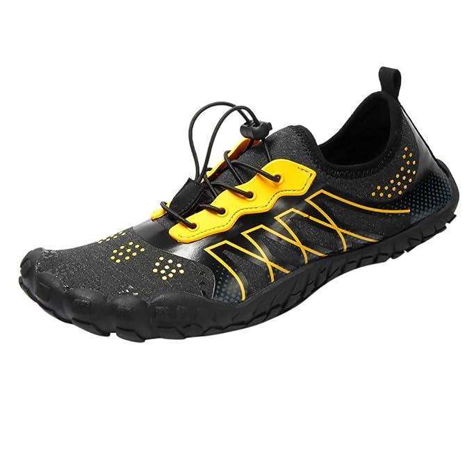 Zapatos de Agua Escarpines ZARLLE Zapatillas Calzado de Playa Descalzo Barefoot Agua Respirable Calcetines Zapatos de Agua Deportes Escarpines para Hombre ...
