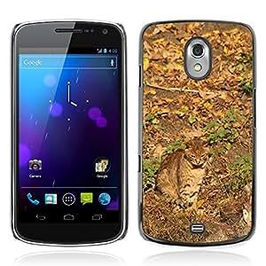 Etui Housse Coque de Protection Cover Rigide pour // M00150523 Gato del camuflaje otoño piel Animales // Samsung Galaxy Nexus GT-i9250 i9250