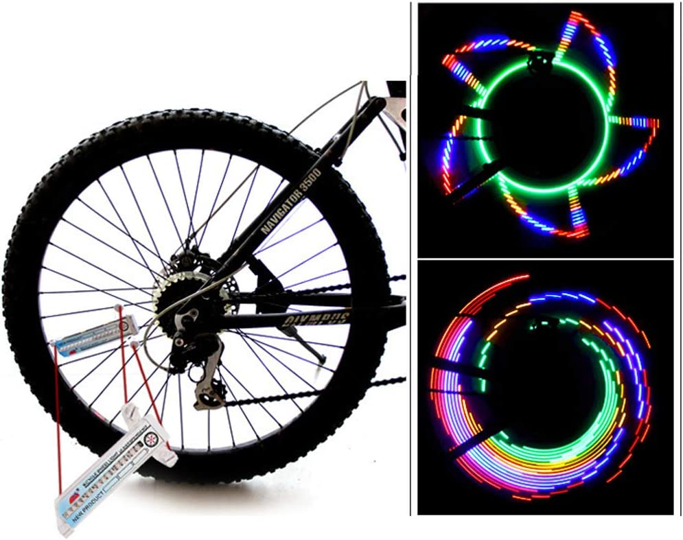 Bike Spoke Lights with Batteries Included! BAVIER Bike Spoke Lights Cycling LED Bike Wheel Lights