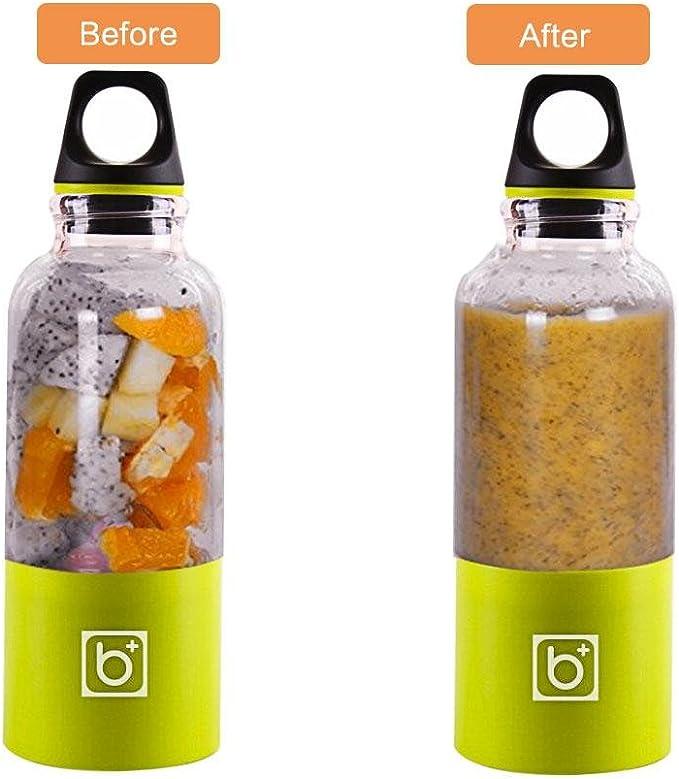 Licuadora Vaso, AOLVO USB Portátil y Recargable para Jugo de Fruta ...