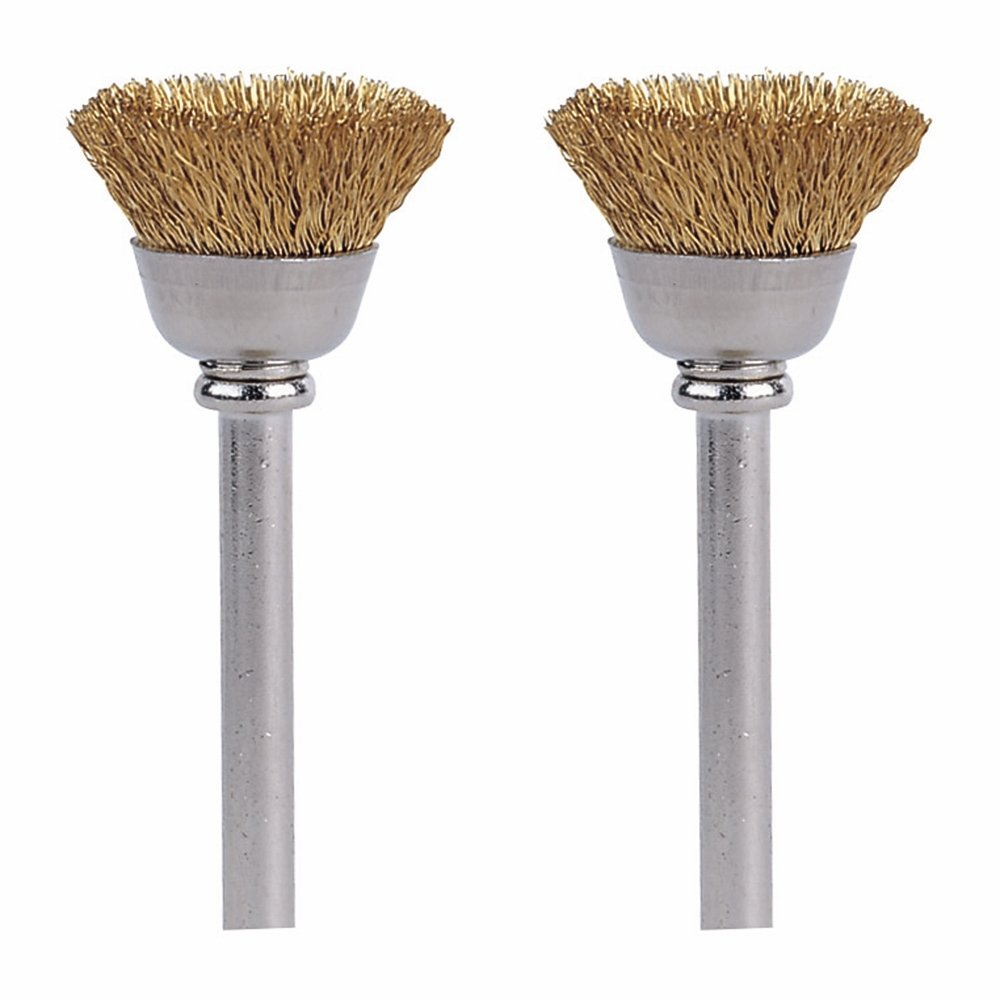 Dremel 536-02 Brass Brushes (2 Pack), 1/2 1/2