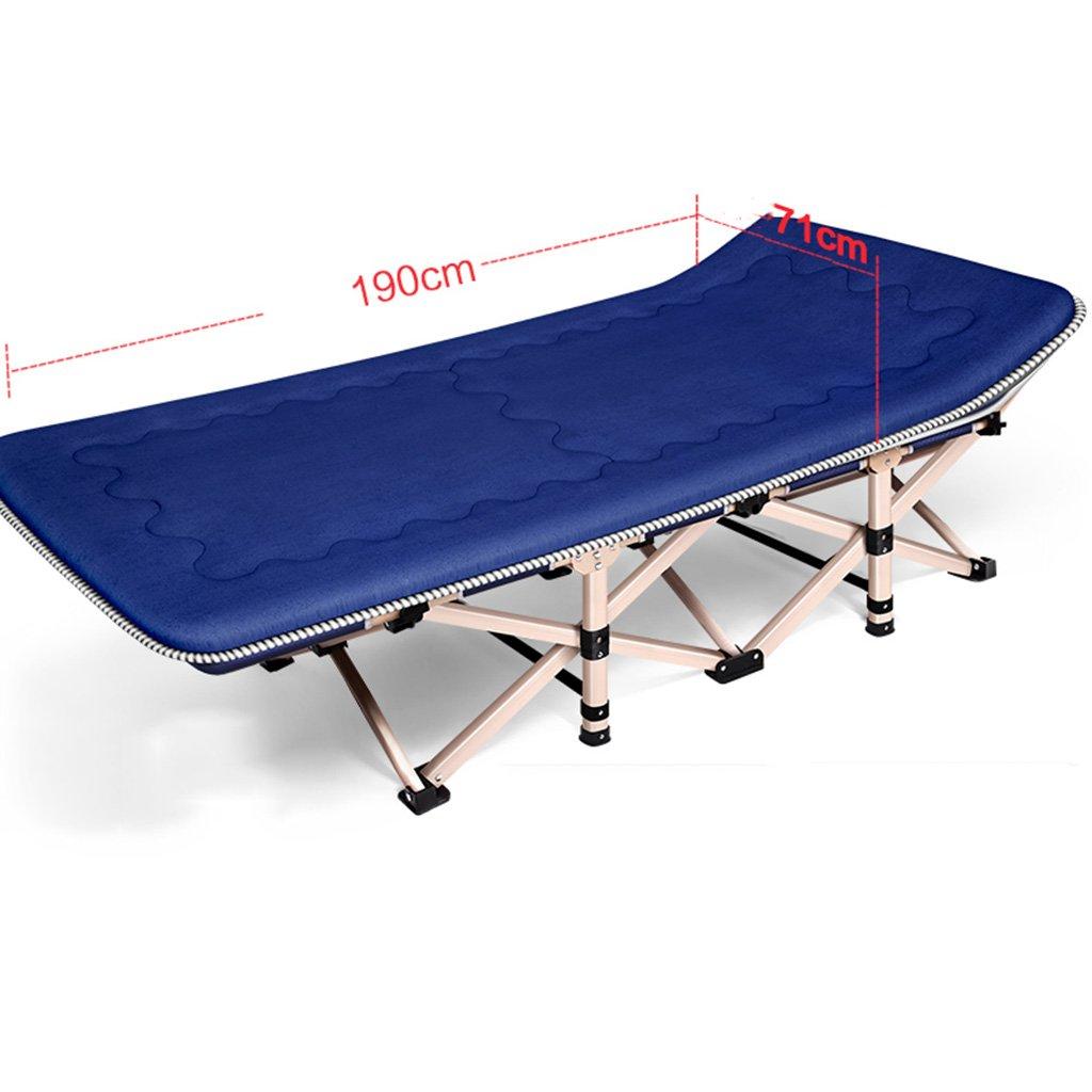 Ren Chang Jia Shi Pin Firm Feldbetten Klappbett Einzelbett Erwachsene Erwachsene Bett Camping Siesta Lounge Stuhl Büro Bett (Farbe : Bronze, Größe : 1907136 cm)