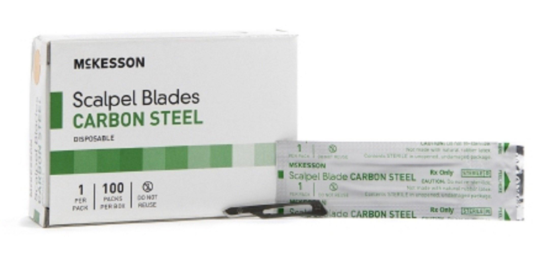 McKesson Brand - Surgical Blade - Carbon Steel - Size 15 - Sterile Disposable - Knife Edge - 5000pcs/Case